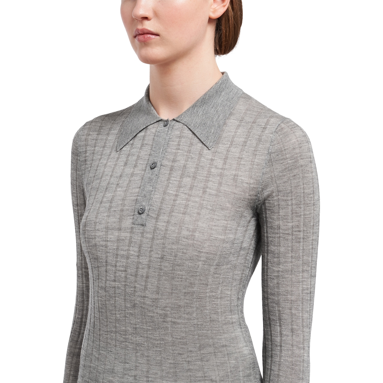 Cashmere and silk polo shirt 5