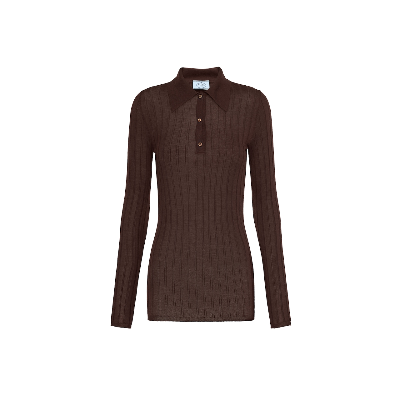 Prada Cashmere and silk polo shirt 1
