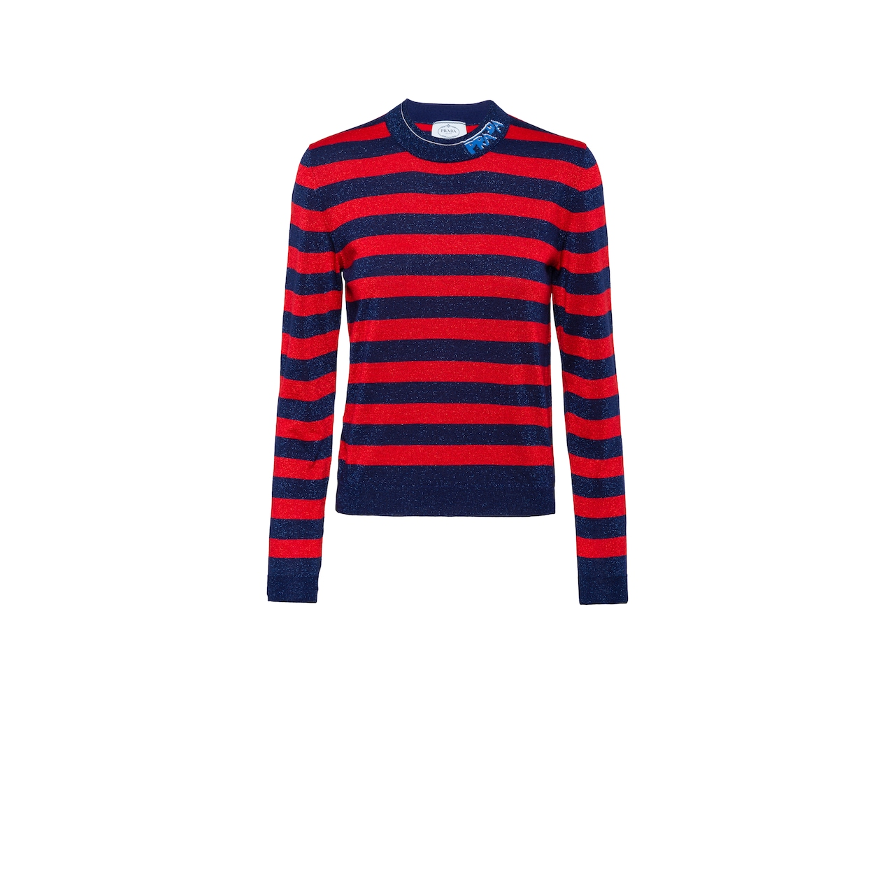 Wool and lamé sweater