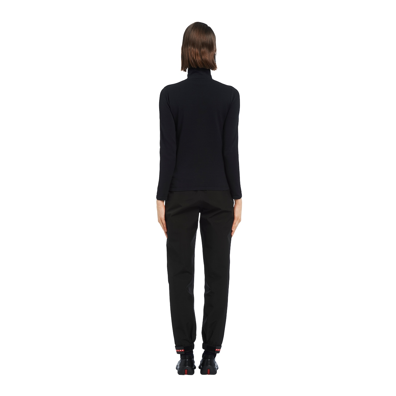 Nylon turtleneck sweater