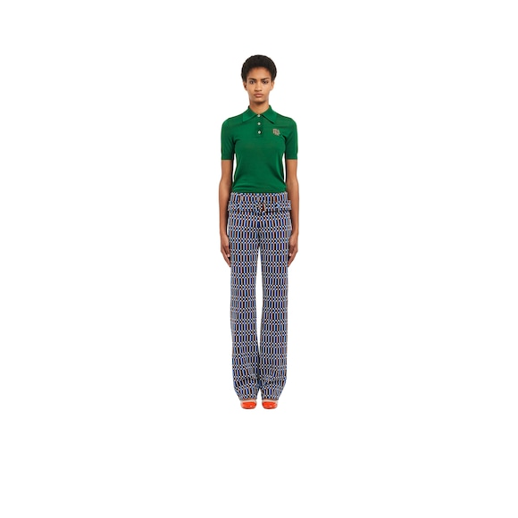 Technical jacquard trousers