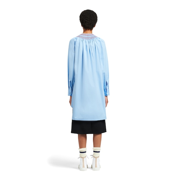 Prada Egyptian cotton popelin dress with embroidery 4
