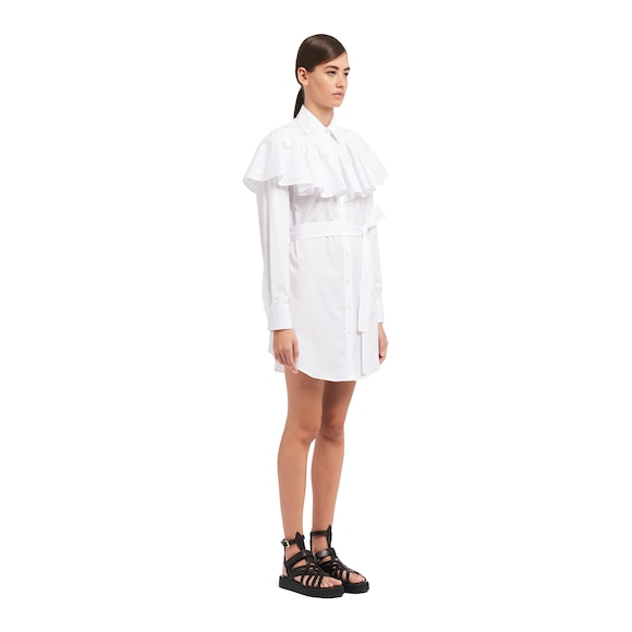 Prada 棉质府绸衬衫式连衣裙 2