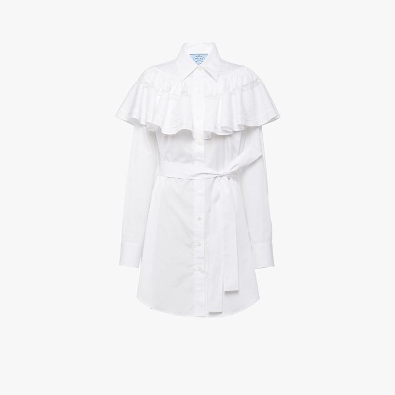 Prada Платье-рубашка из хлопкового поплина - Женское