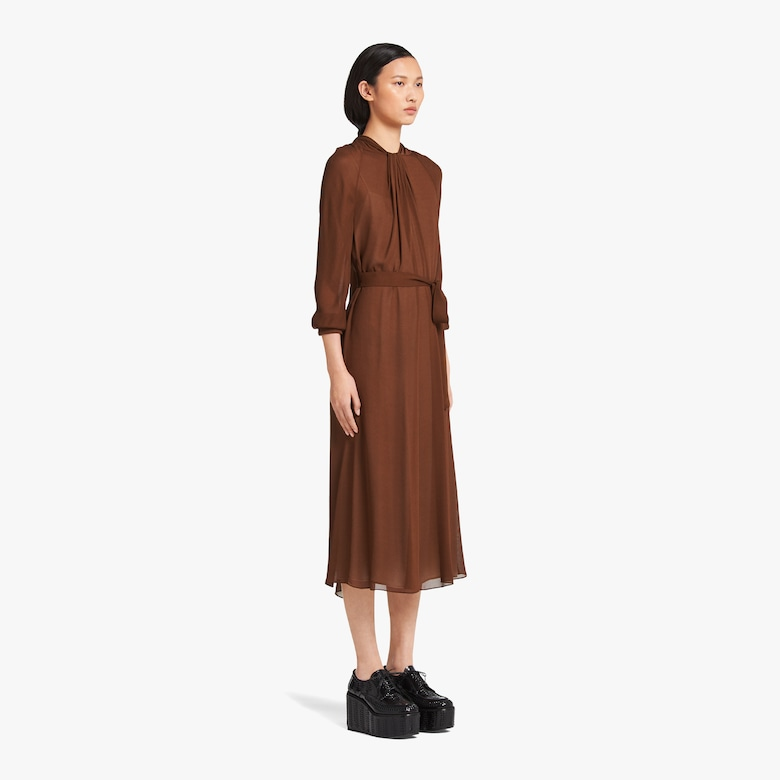 Sablé crepe dress