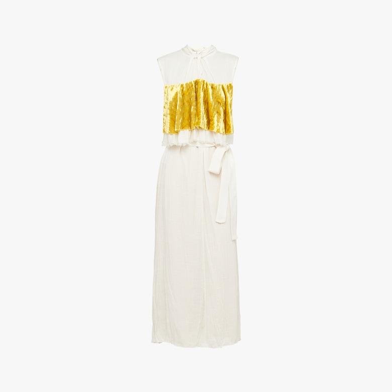 Slubbed toile dress