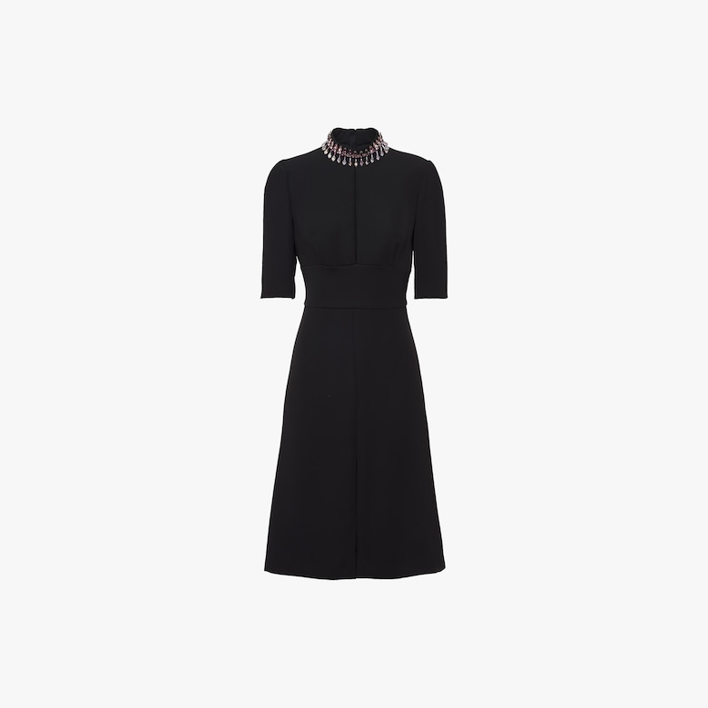 Prada Embellished technical broadcloth dress - Woman