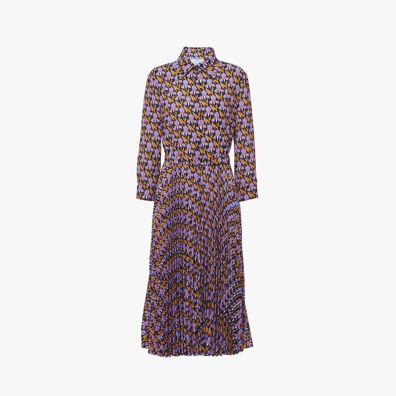 Prada Light printed sablé dress - Woman