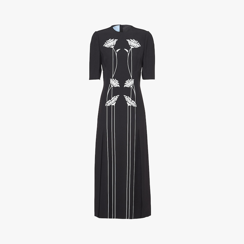 Prada Printed satin sablé dress - Woman