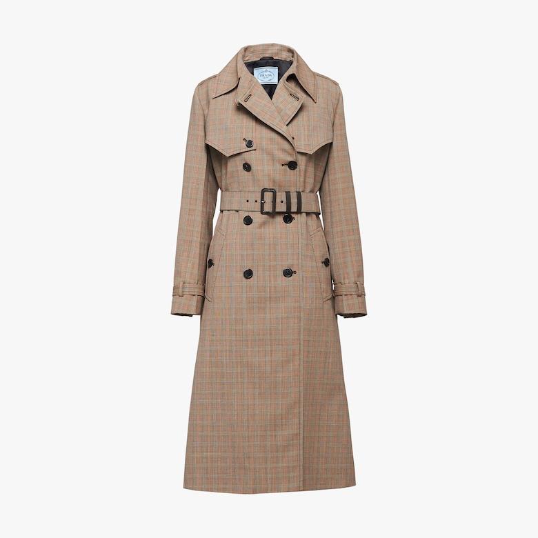 Prince of Wales micro-check coat