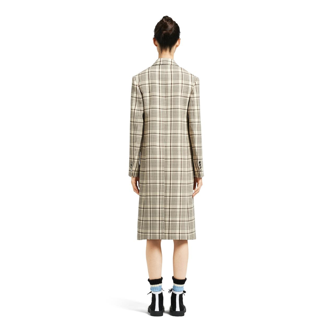 Prada Double-breasted gabardine coat 4