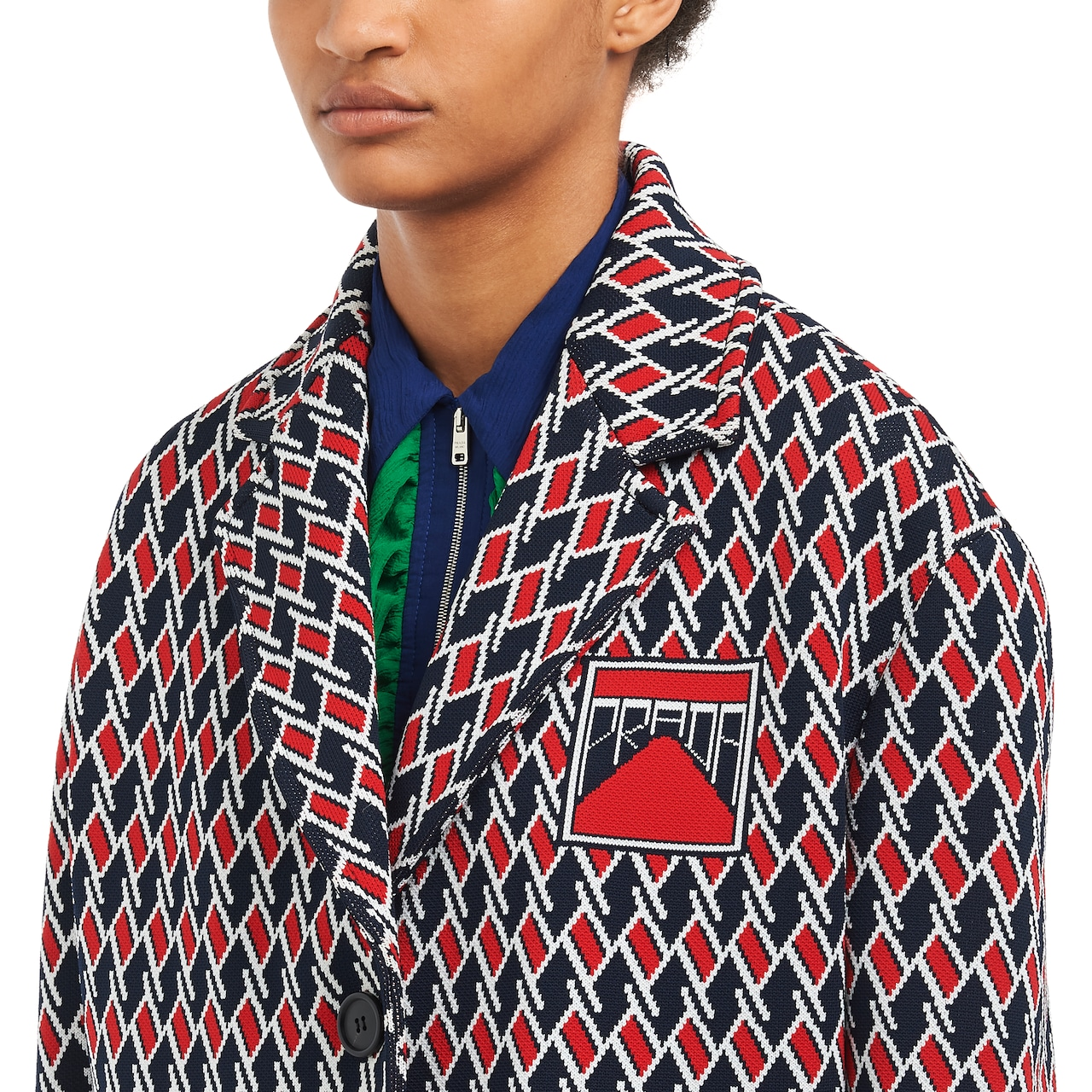 Jacquard caban jacket