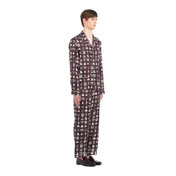 Pijama en sarga de seda