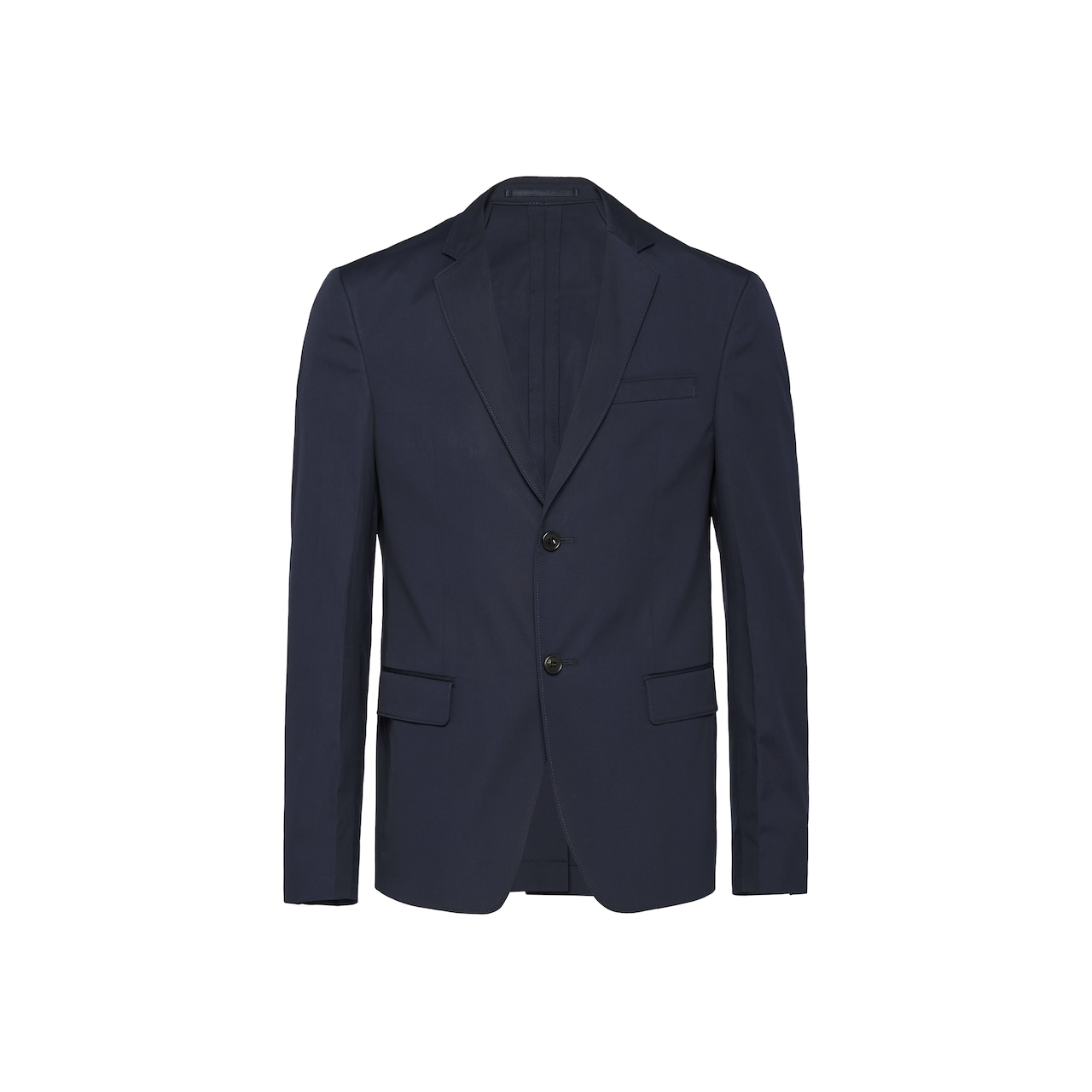 Single-breasted cotton poplin jacket