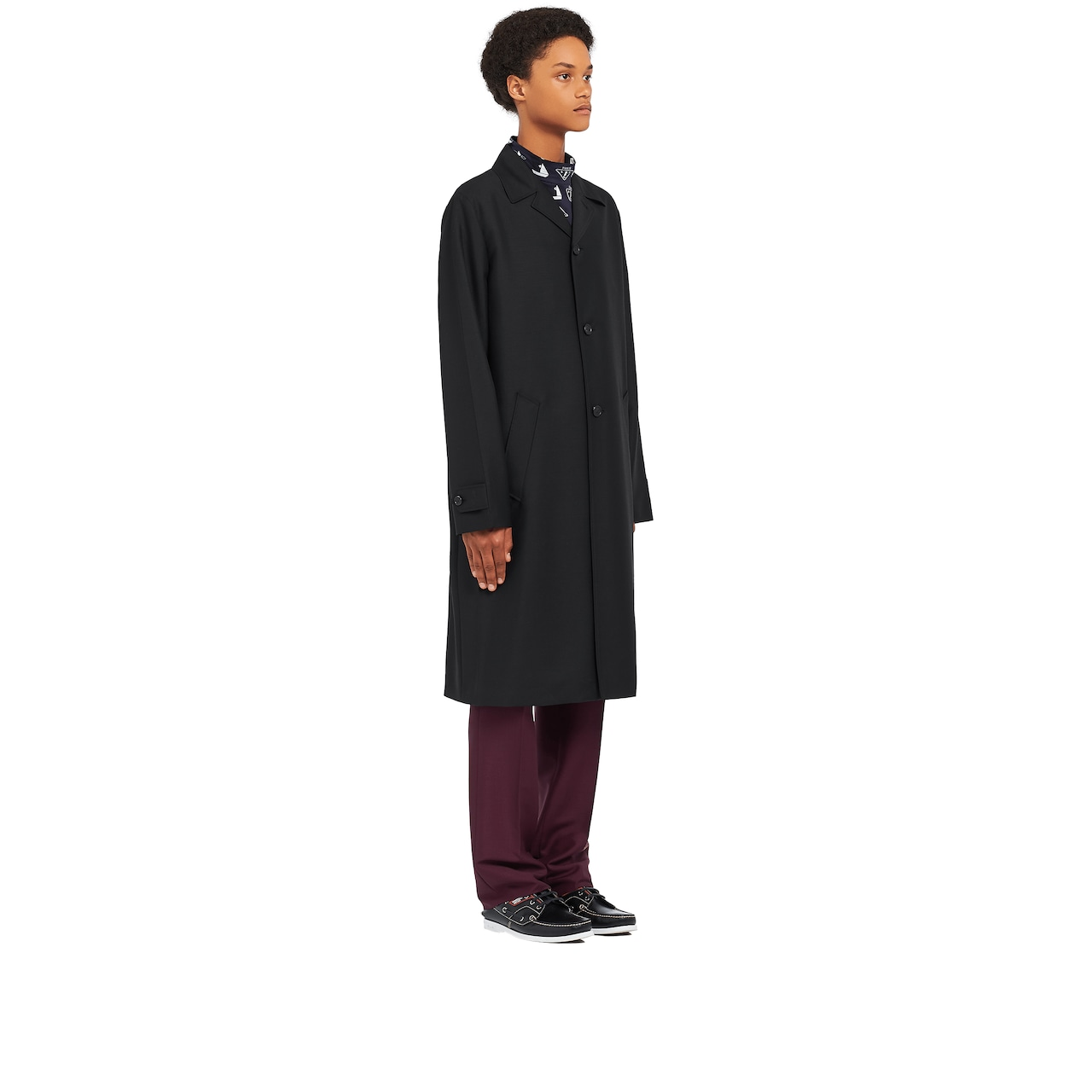 Mohair and wool coat