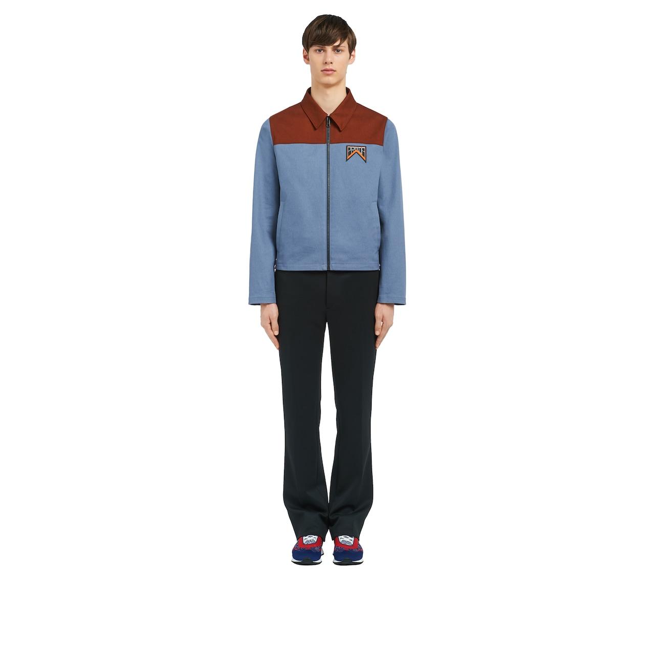 Veste en coton bicolore