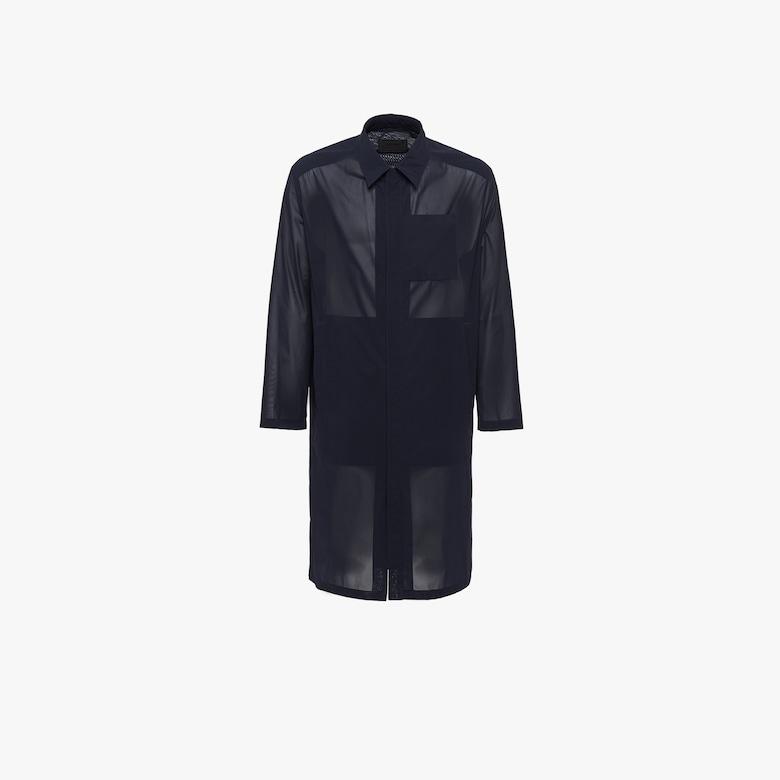 Technical muslin raincoat