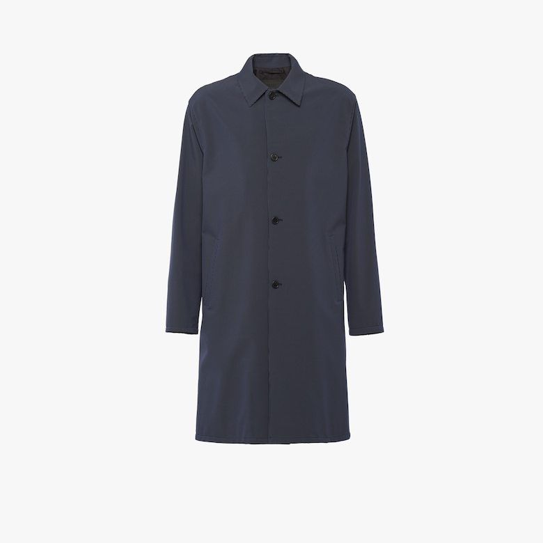 Technical houndstooth check raincoat
