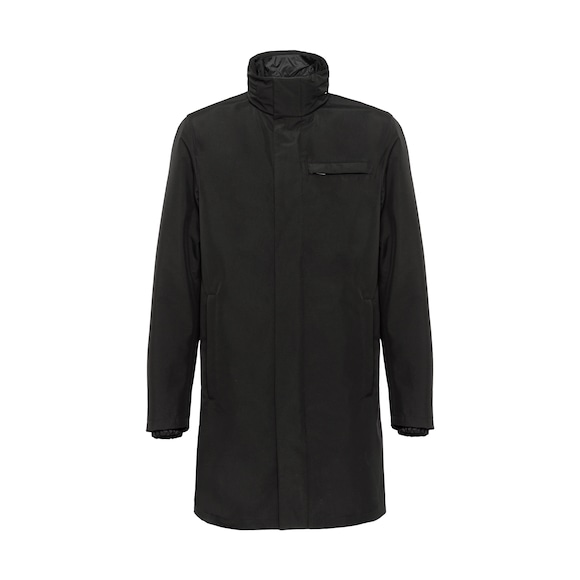 Technical poplin raincoat