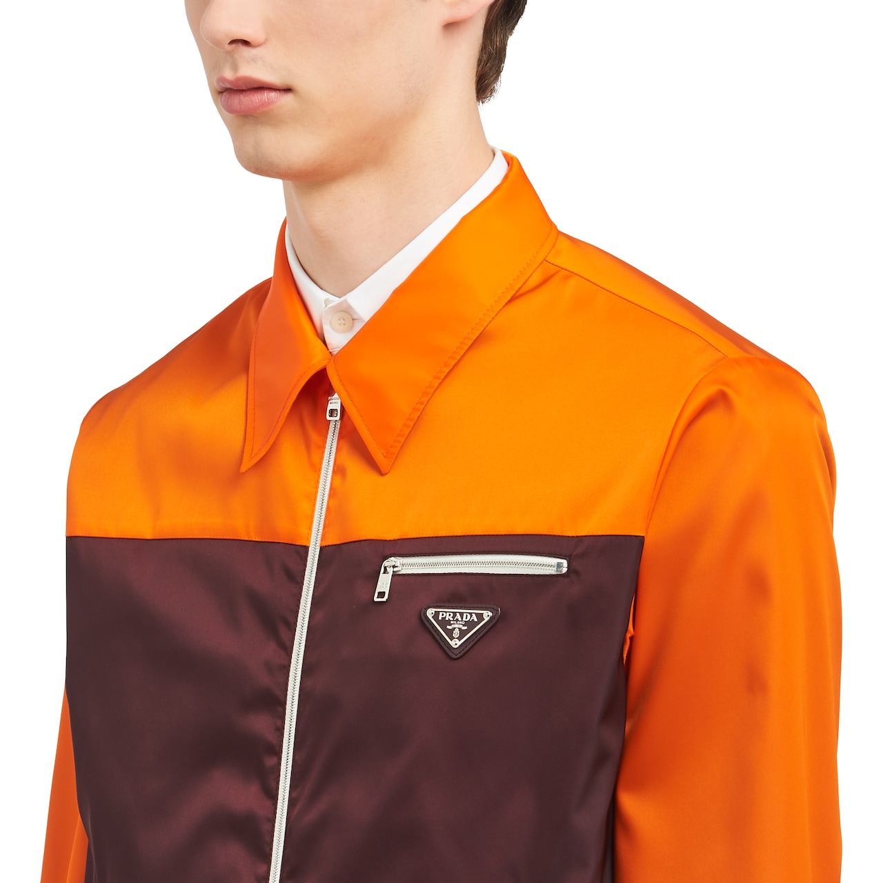 Two-tone nylon gabardine jacket