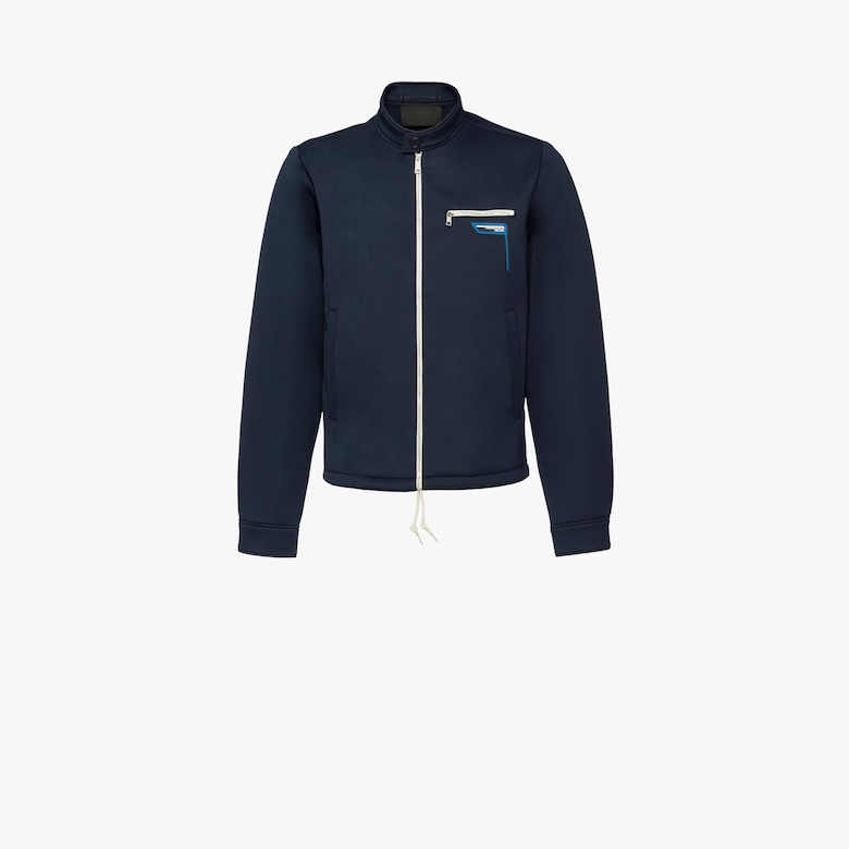 Technical jersey jacket