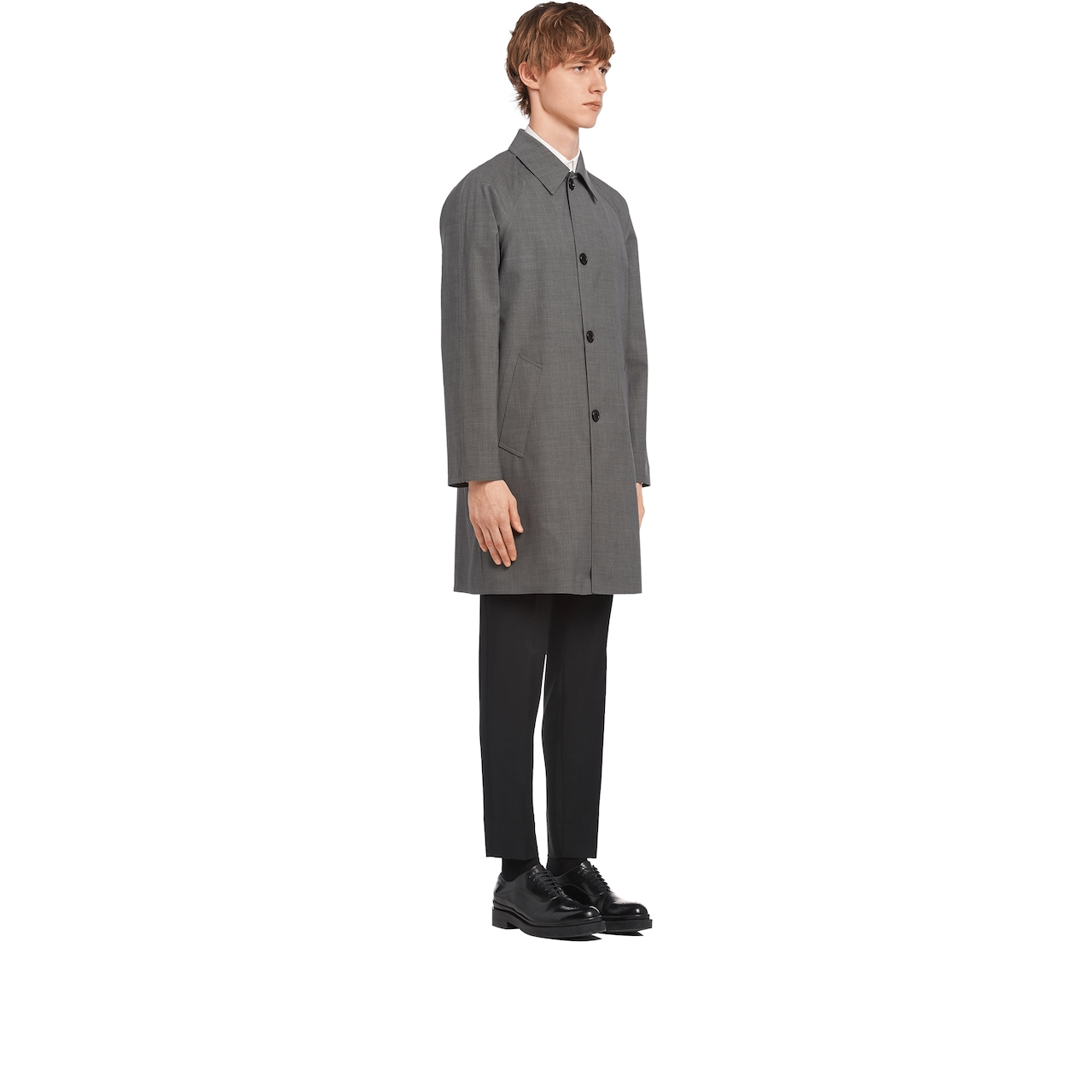 Wool and cotton raincoat