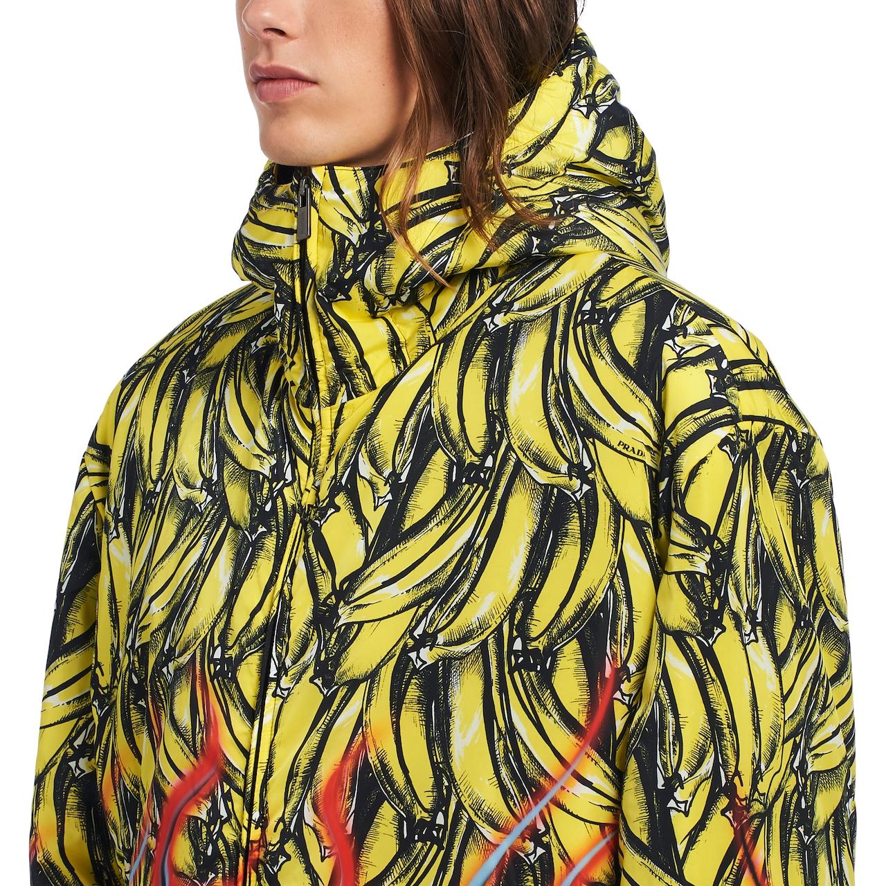 Padded printed nylon jacket