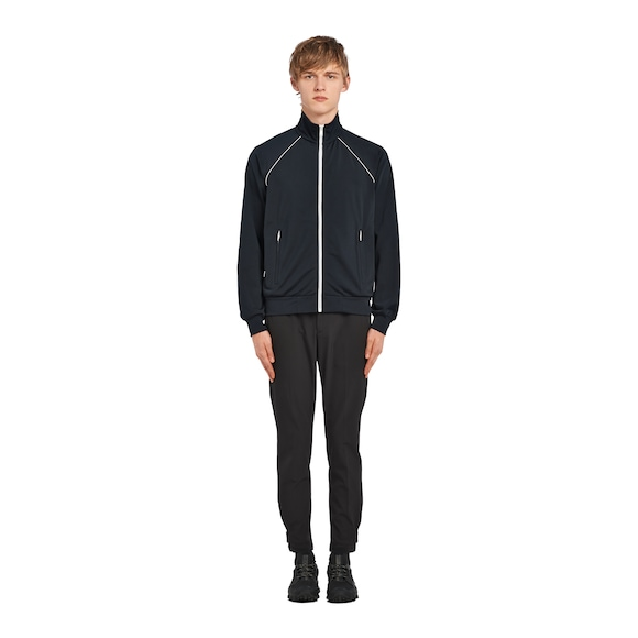 Technical fabric blouson jacket