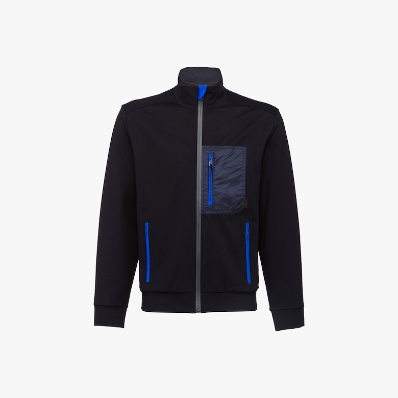 Prada Punto stoffa knit jacket with inserts - Man