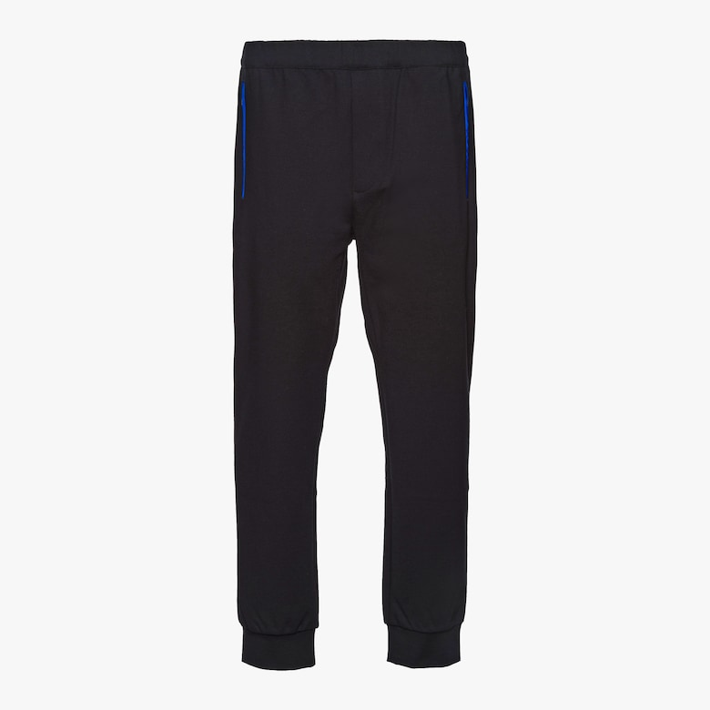 Prada Punto stoffa knit trousers with inserts - Man