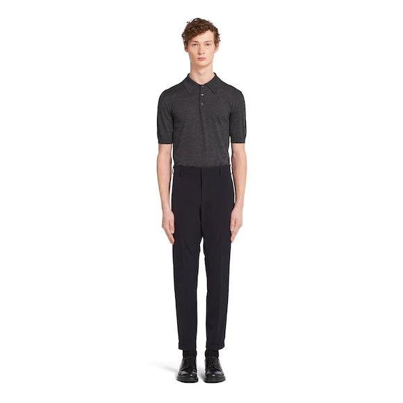 Prada Stretch technical twill trousers 3