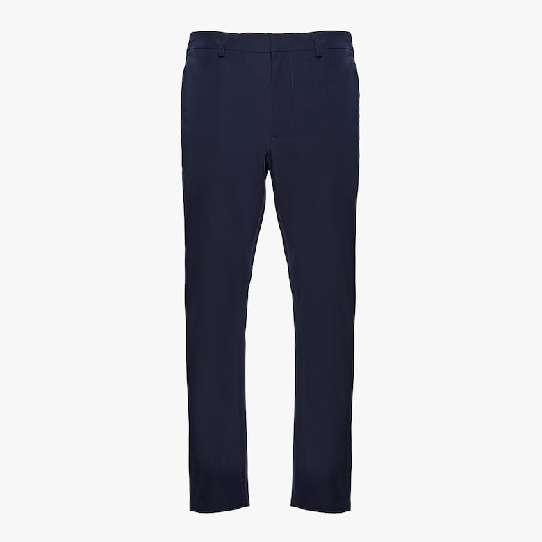 Light stretch technical fabric trousers