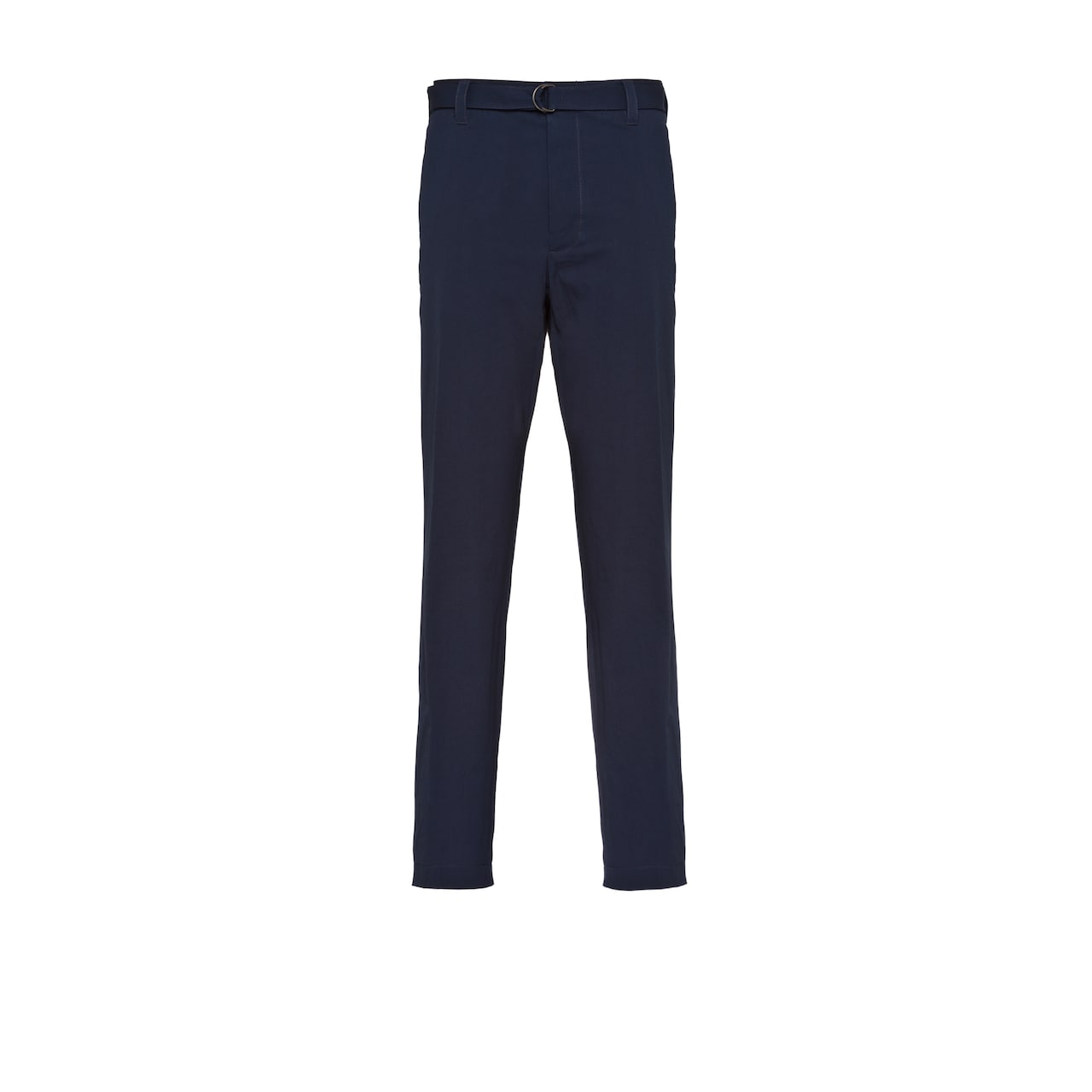Washed cotton gabardine trousers