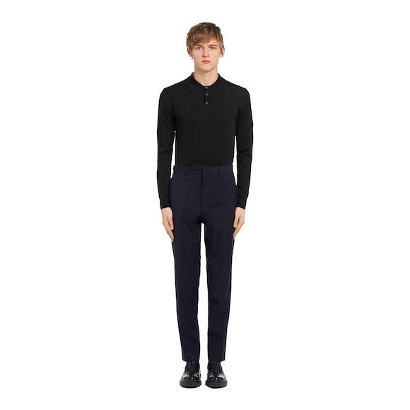 Wrinkle-free wool trousers