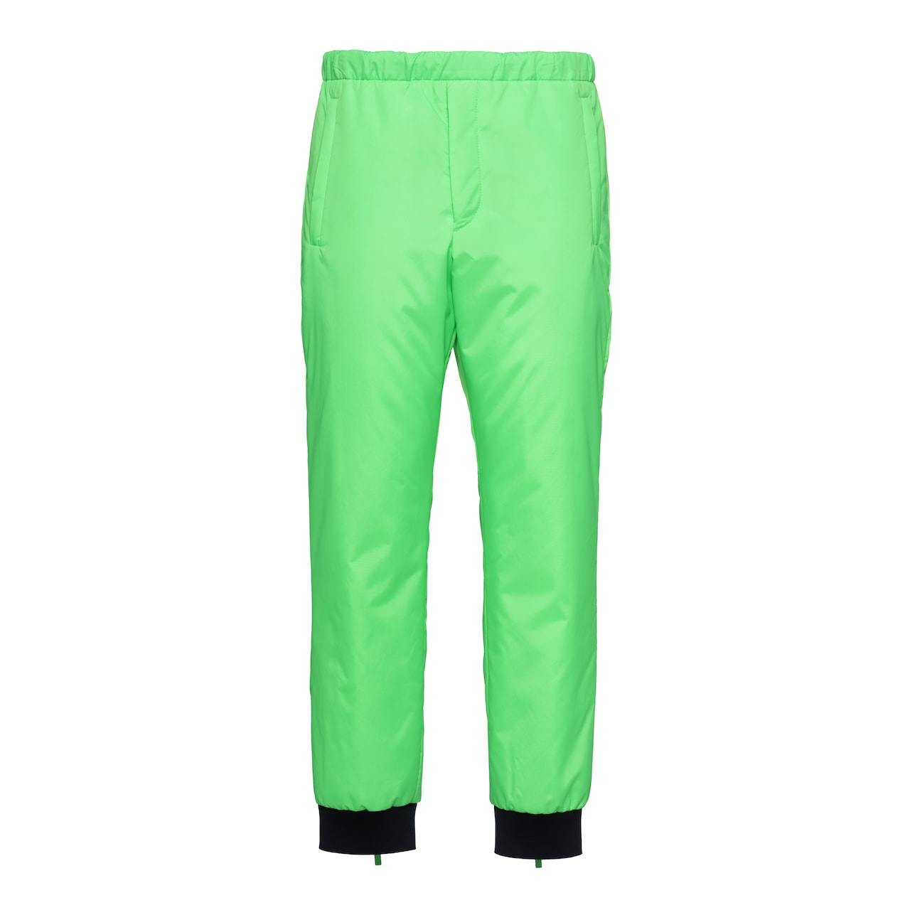 Padded technical fabric trousers