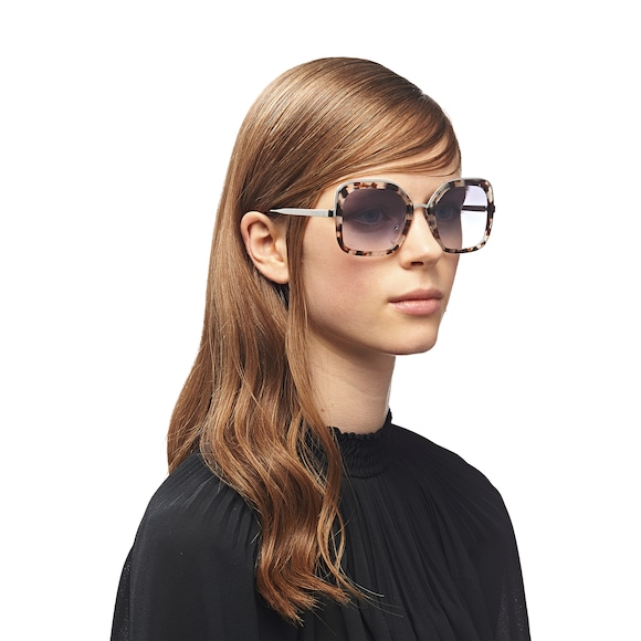 08c678be742 Sophisticated women s sunglasses. Oversized square frame front in colorful  acetate