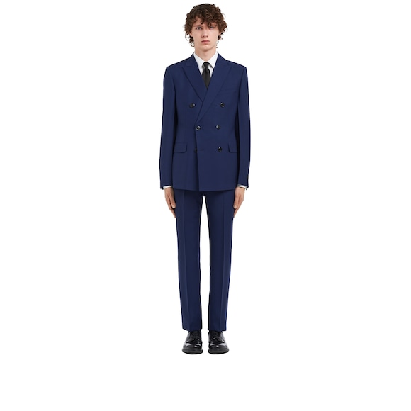 Kid mohair double-breasted suit