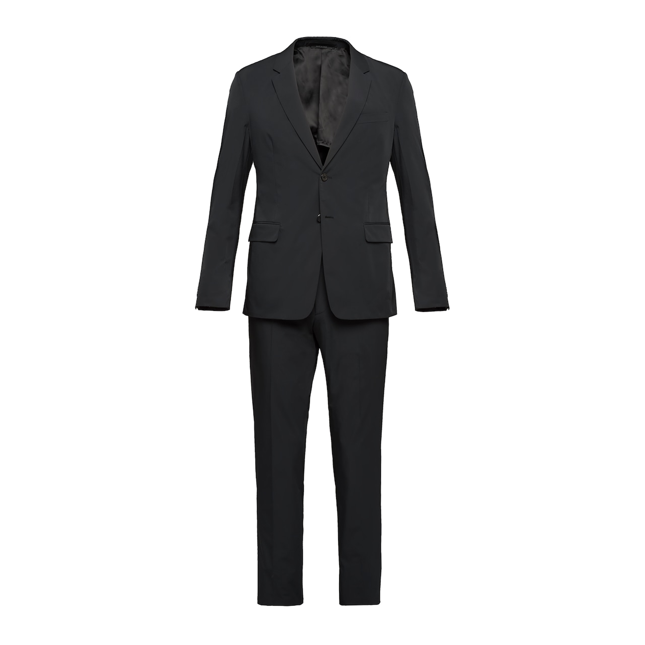 Technical fabric single-breasted suit