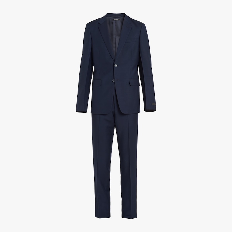 Kid mohair single-breasted suit