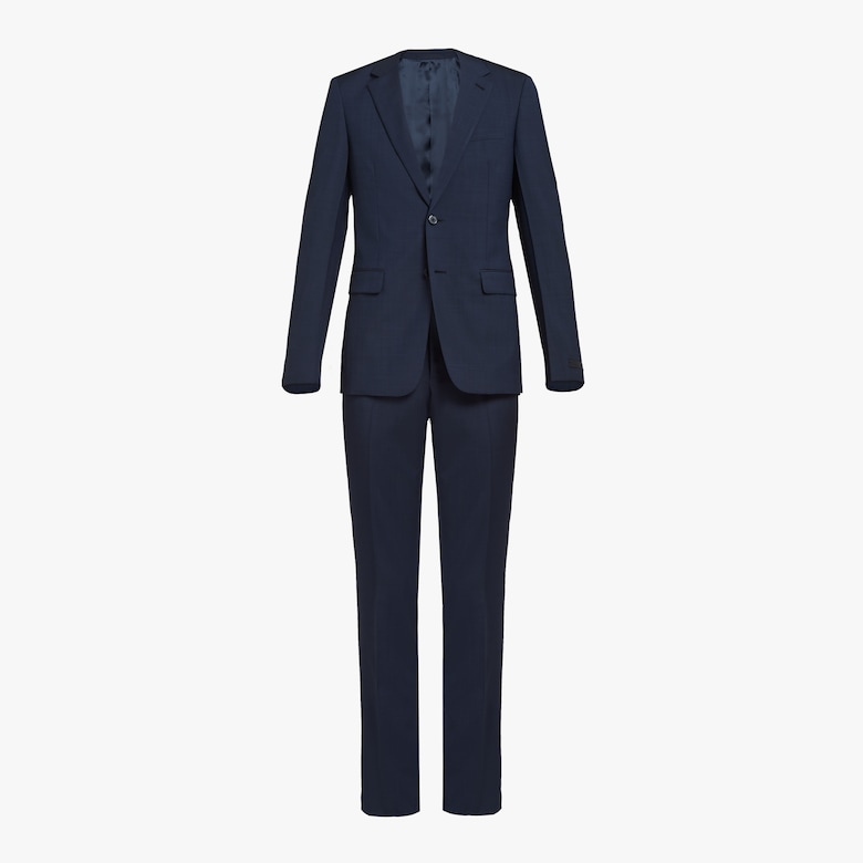 Prada Single-breasted fil-a-fil mohair suit - Man