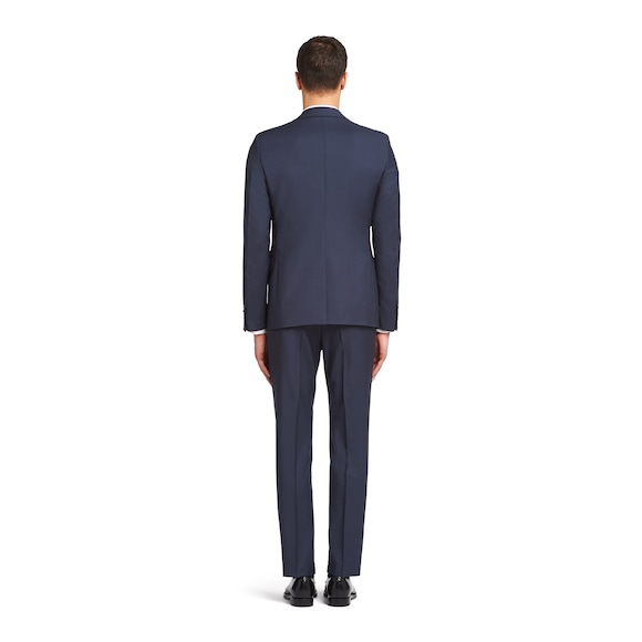 Prada Single Breasted Wool And Mohair Suit 4