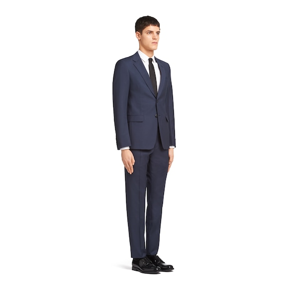 Prada Single Breasted Wool And Mohair Suit 2