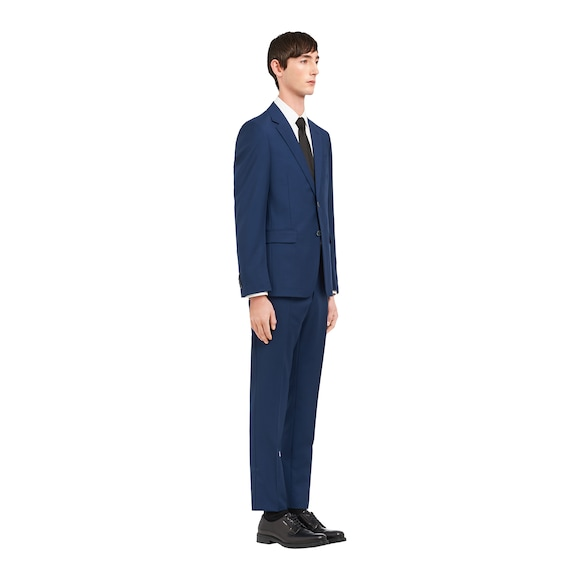 Wool and mohair single-breasted suit