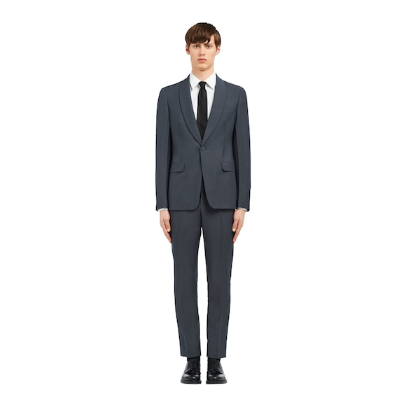 Wool and mohair single-breasted tuxedo
