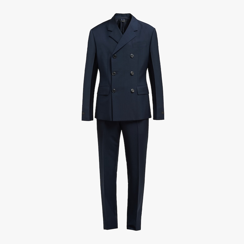 Prada Double-breasted kid mohair suit - Man