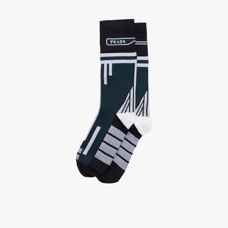 Nylon knit socks