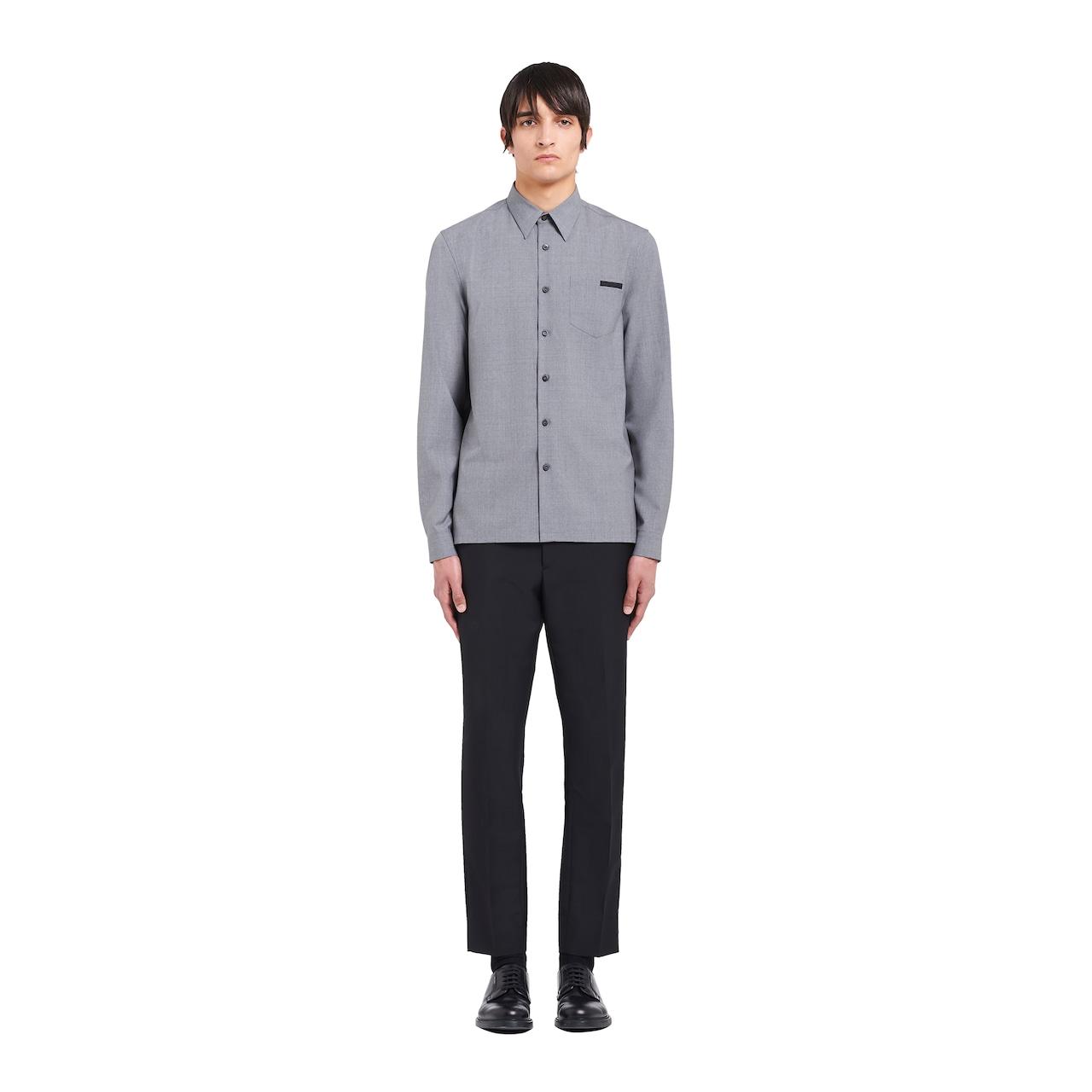 Prada Mélange wool poplin shirt 2