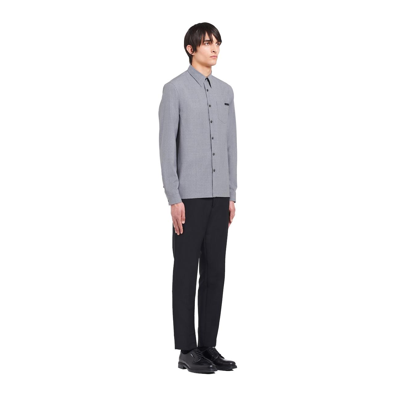 Prada Mélange wool poplin shirt 3