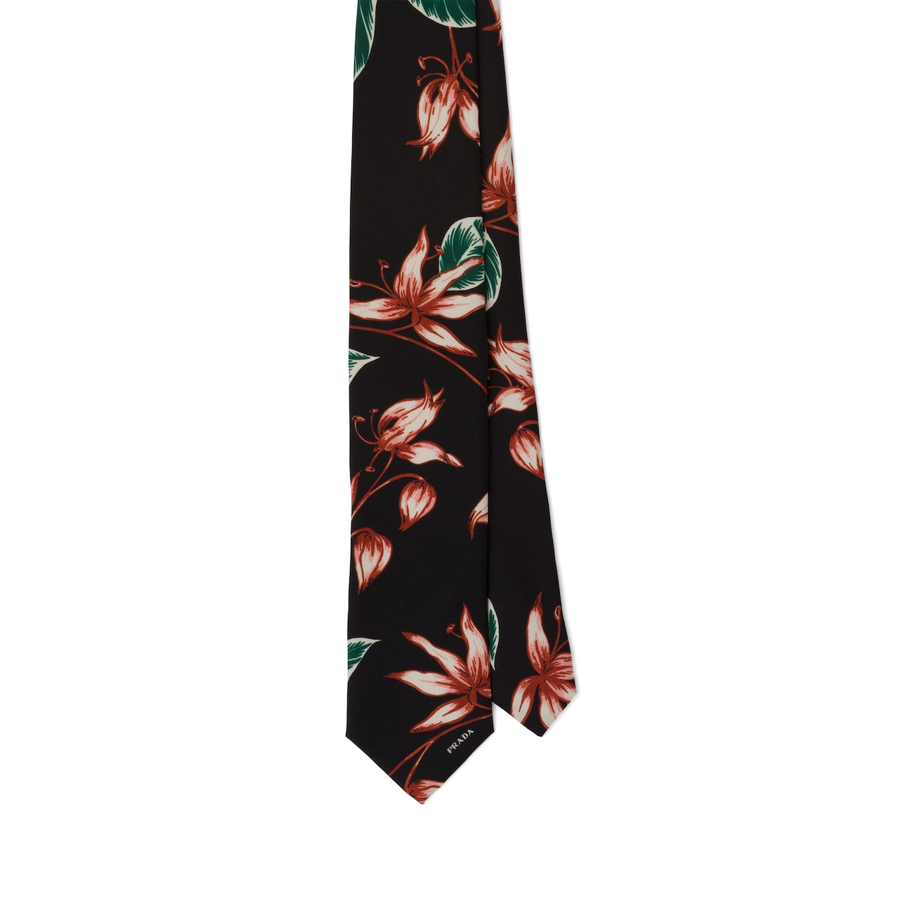Prada Printed silk twill tie 1