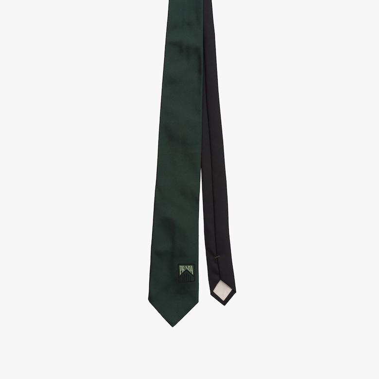 Tie with jacquard logo